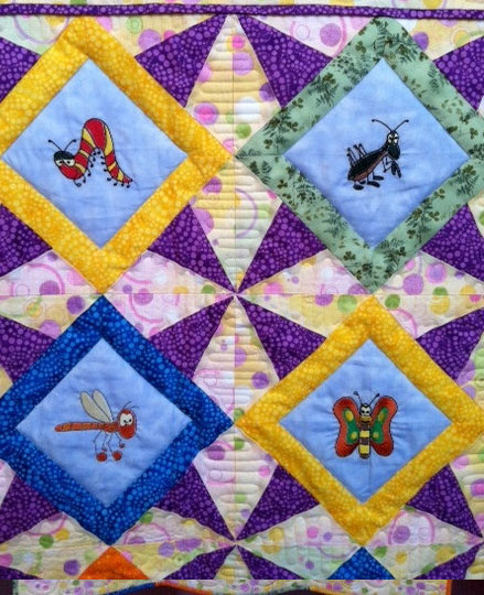 Embroidered Children's Quilt 2 Willowlark