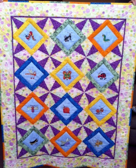 Embroidered Children's Quilt 3 Willowlark