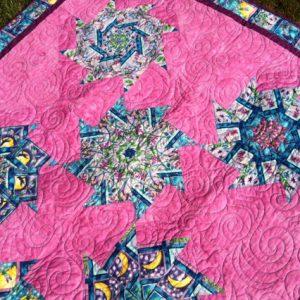 Pink Lap or Throw Quilt 3 Willowlark