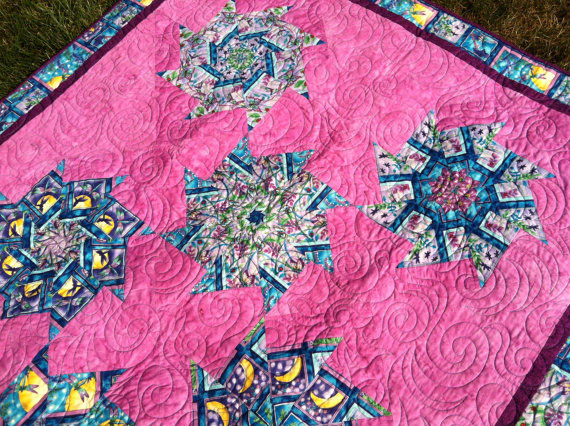 Pink Lap or Throw Quilt 3 Willowlark